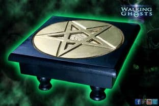 Pentacle Hand Carve Wood Altar Table Spells Shrines Witchcraft Wicca Pentagram